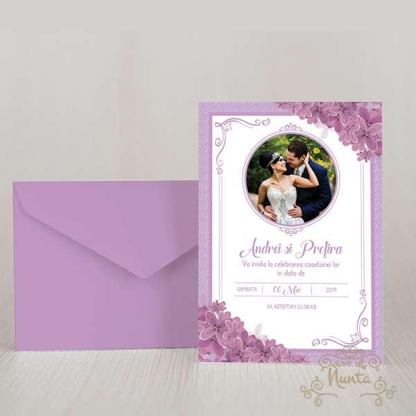 invitatie-de-nunta-poza-mirilor-liliac