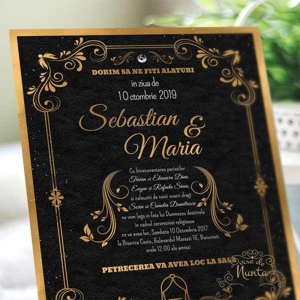 invitatie-nunta-negru-auriu