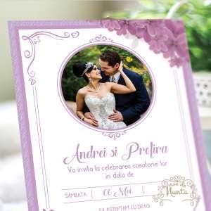 invitatie-nunta-poza-mirilor-liliac