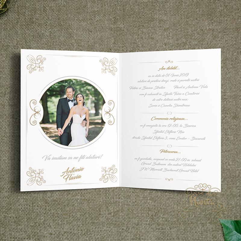 Invitatie De Nunta Royal Ivory Invitatie Nunta Poza Mirilor