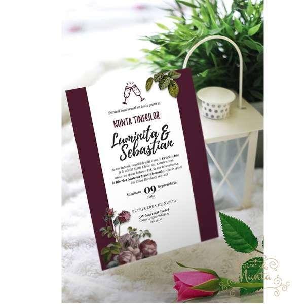 invitatie-nunta-trandafiri-salbatici