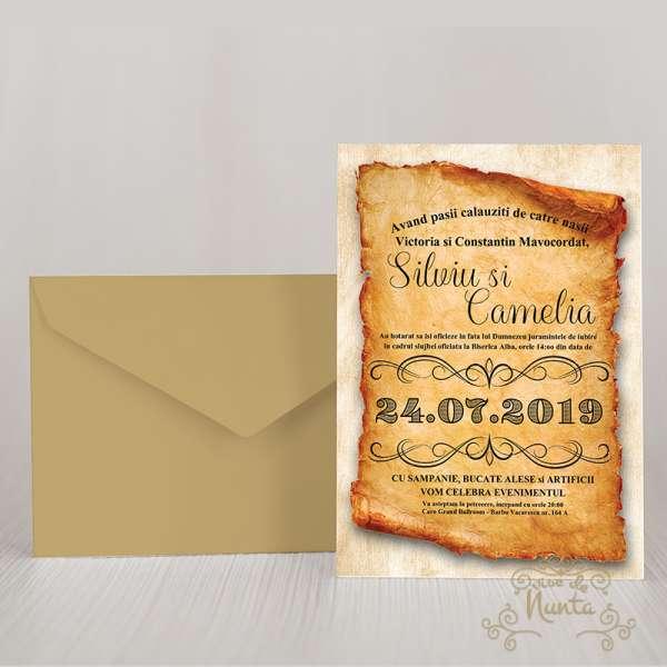 invitatie-nunta-vintage